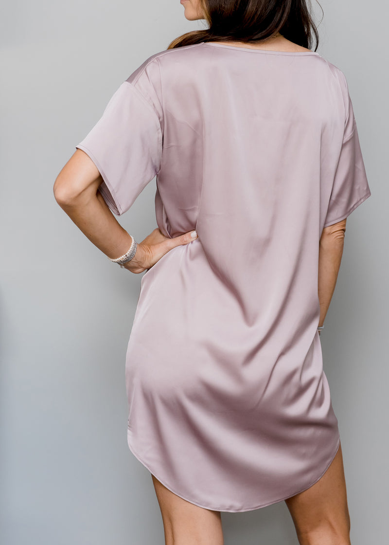 Satin T-shirt Dress