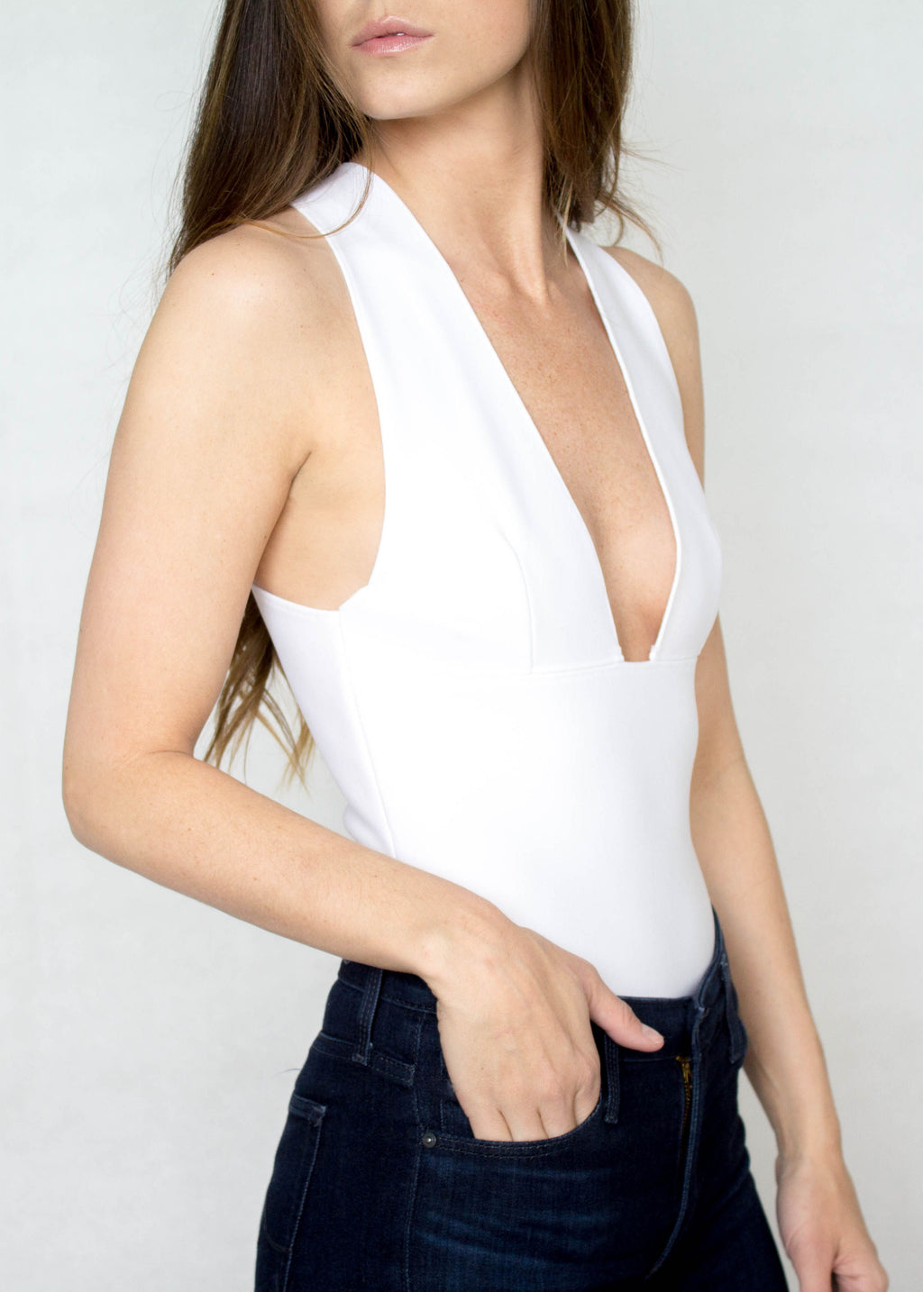 Deep V Bodysuit