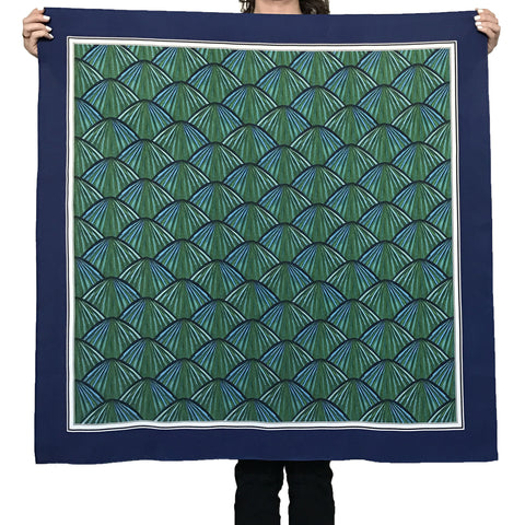 Palm Frond Silk Scarf