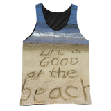 Life is good at the beach Tank