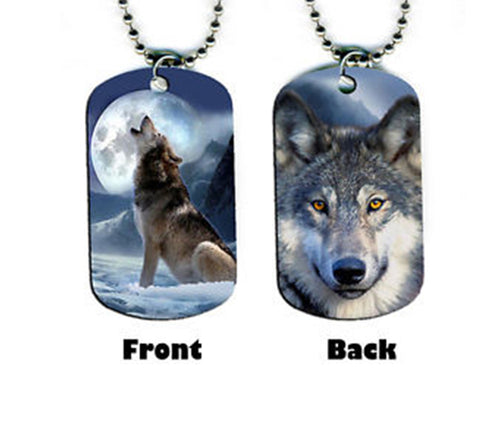 Wolf  Double Sided Necklace