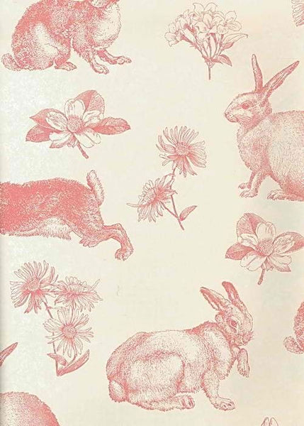 pink french toile