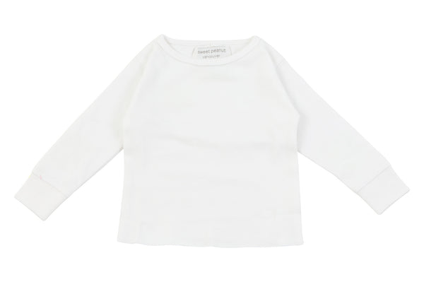 white long sleeve shirt - Sweet Peanut