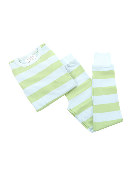 long pjs in boys summer stripe - Sweet Peanut - 1