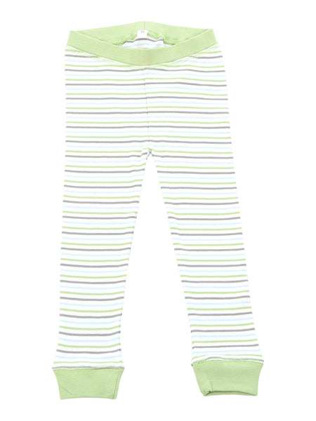 long pjs in lazy day summer stripe - Sweet Peanut - 3