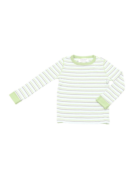 long pjs in lazy day summer stripe - Sweet Peanut - 2