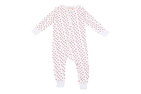 Bamboo Red Stars Long Romper