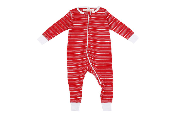 Bamboo Red Stripe Long Romper