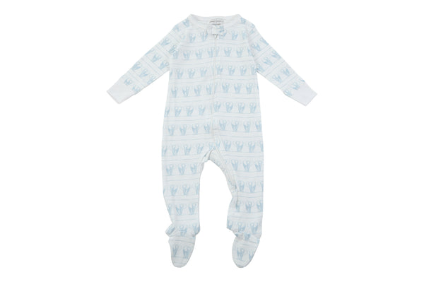 footed pjs in blue elephants