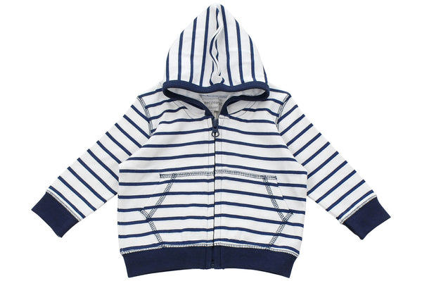 hoodie in blue marseille stripe - Sweet Peanut