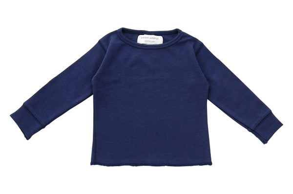 navy blue long sleeve shirt - Sweet Peanut