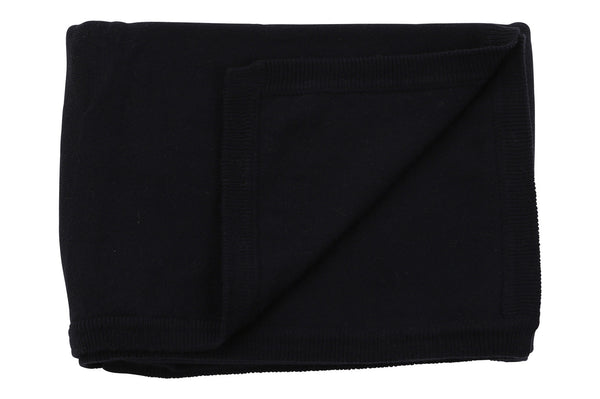 cotton cashmere navy blue blanket