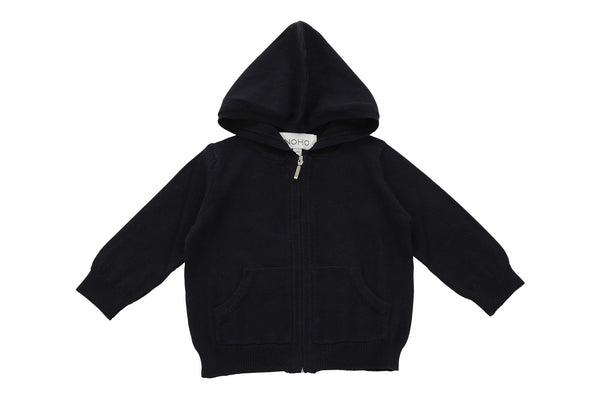 cotton cashmere navy blue baby hoodie