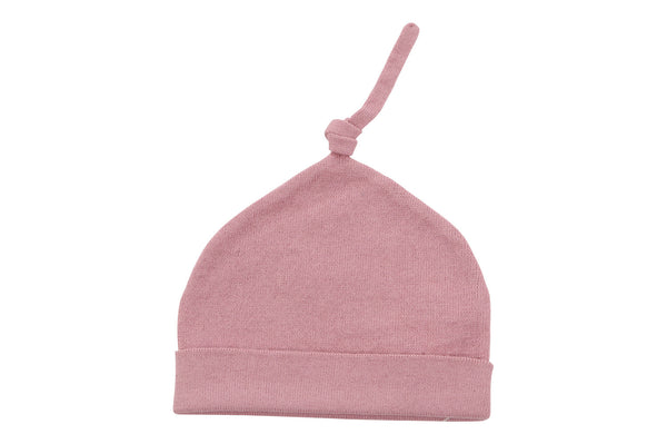 cotton cashmere pink baby hat