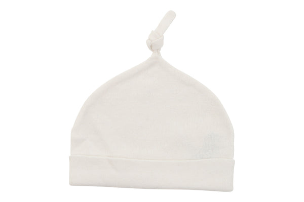 cotton cashmere white baby hat