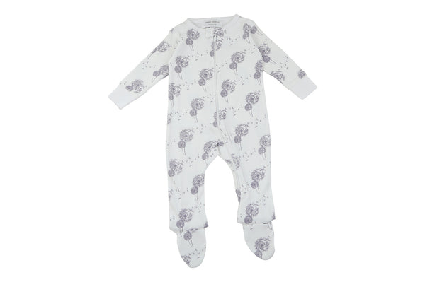 footed pajamas in dandelion
