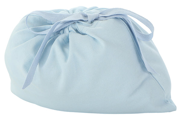 light blue fitted crib sheet