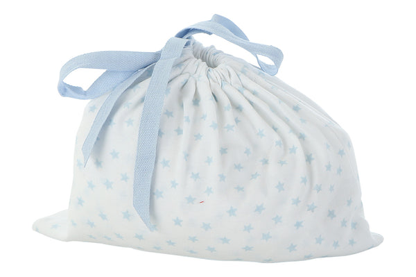 blue star fitted crib sheet