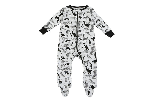 footed pajamas in party animals - Sweet Peanut