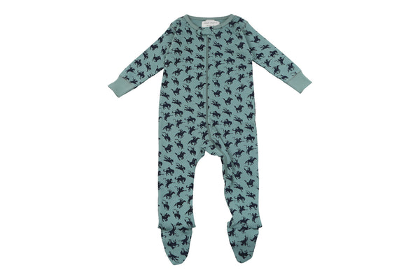 footed pajamas in rodeo - Sweet Peanut