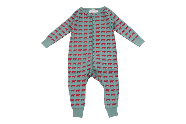 long romper in moo - Sweet Peanut