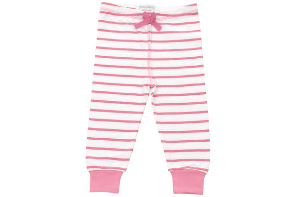 cozy pants in pink marseille stripe - Sweet Peanut