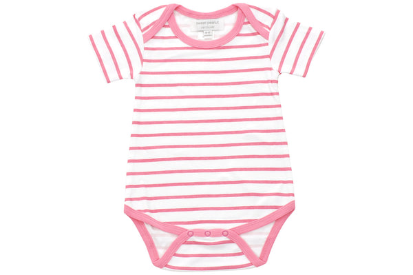 onesie in pink marseille stripe - Sweet Peanut