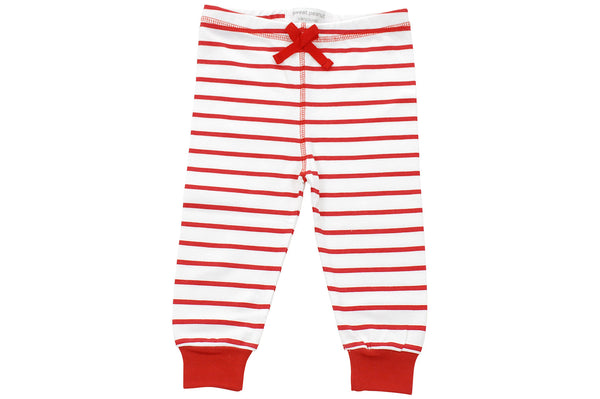 cozy pants in red marseille stripe