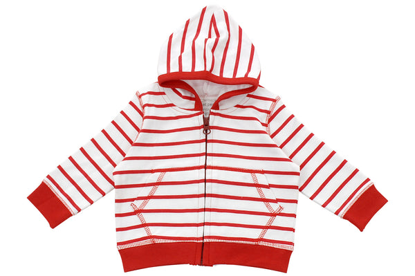 hoodie in red marseille stripe - Sweet Peanut