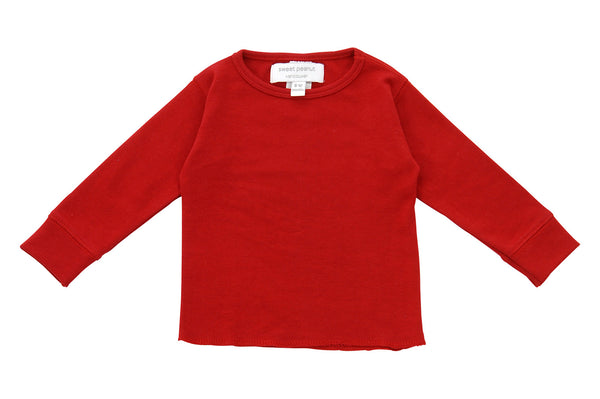 red long sleeve shirt - Sweet Peanut