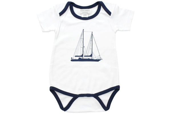 onesie in sailing away - Sweet Peanut