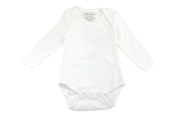 long sleeve onesie in white