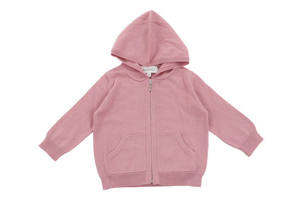 cotton cashmere pink baby hoodie