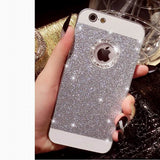 Glitter Bling iPhone Case With Crystal Logo Ring