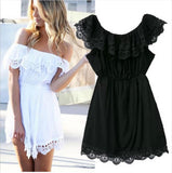 Women's White Lace Off The Shoulder Dress