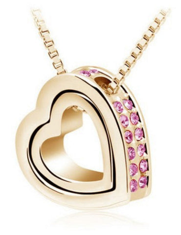 Valentine Crystal Heart Pendant Necklace