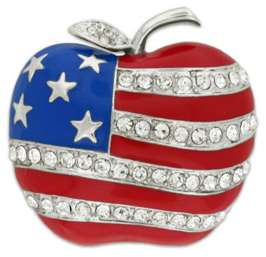 American Apple Pin