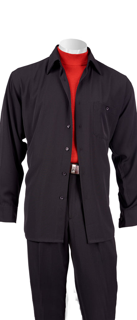 Long Sleeve High-twist Microfiber Shirt and Pant Set - Inserch
