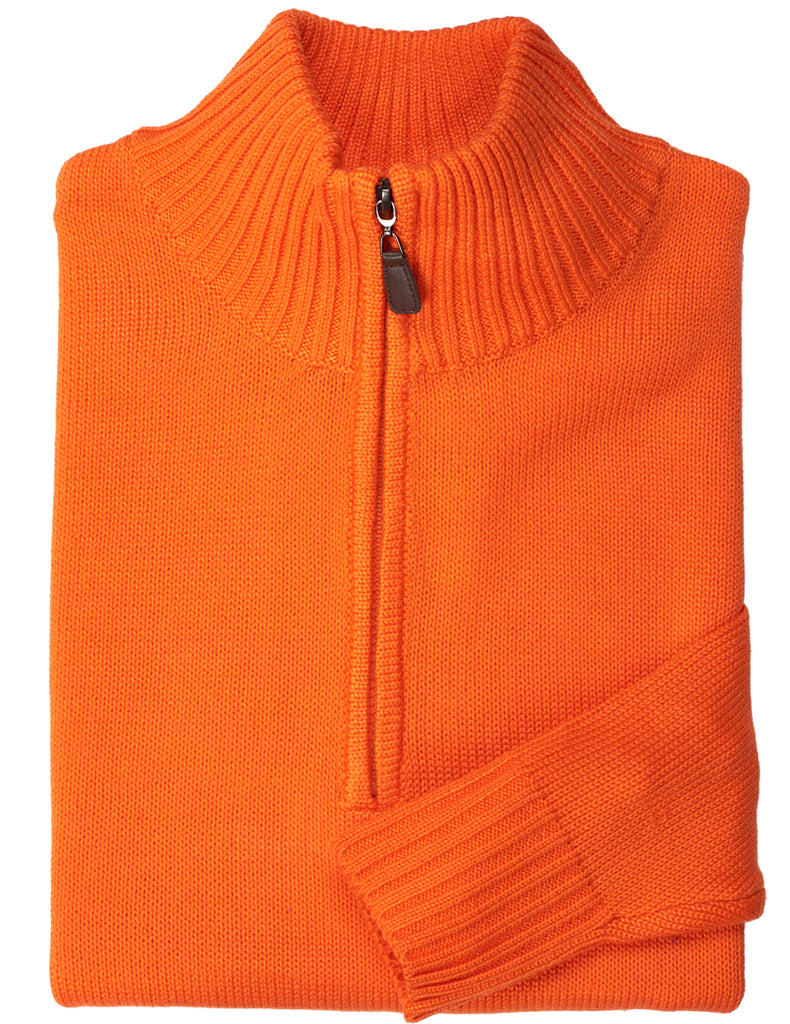 Acrylic Half-Zip Mock Neck Sweater - Inserch