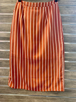 Hem & Thread Stripe Wrap Skirt
