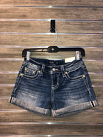 Mid Rise Short with Cross Pockets