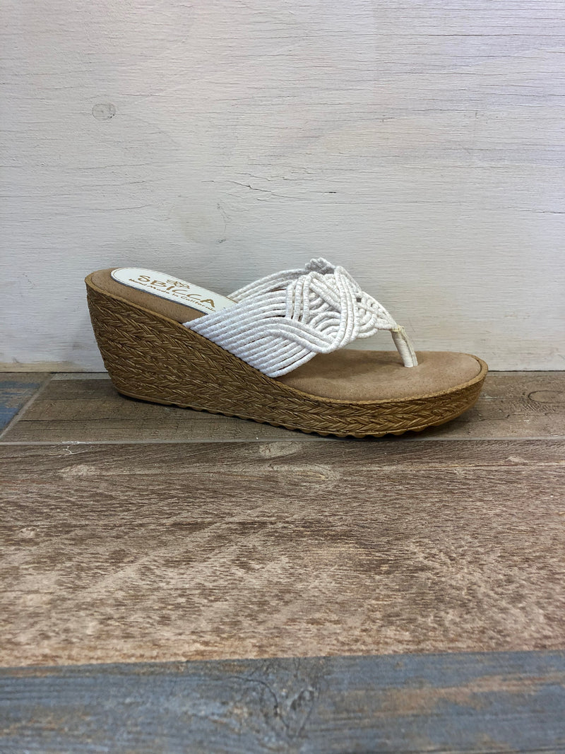 A Diddy Woven  Wedges - White