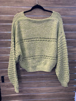 Coconut Green V Neck Sweater