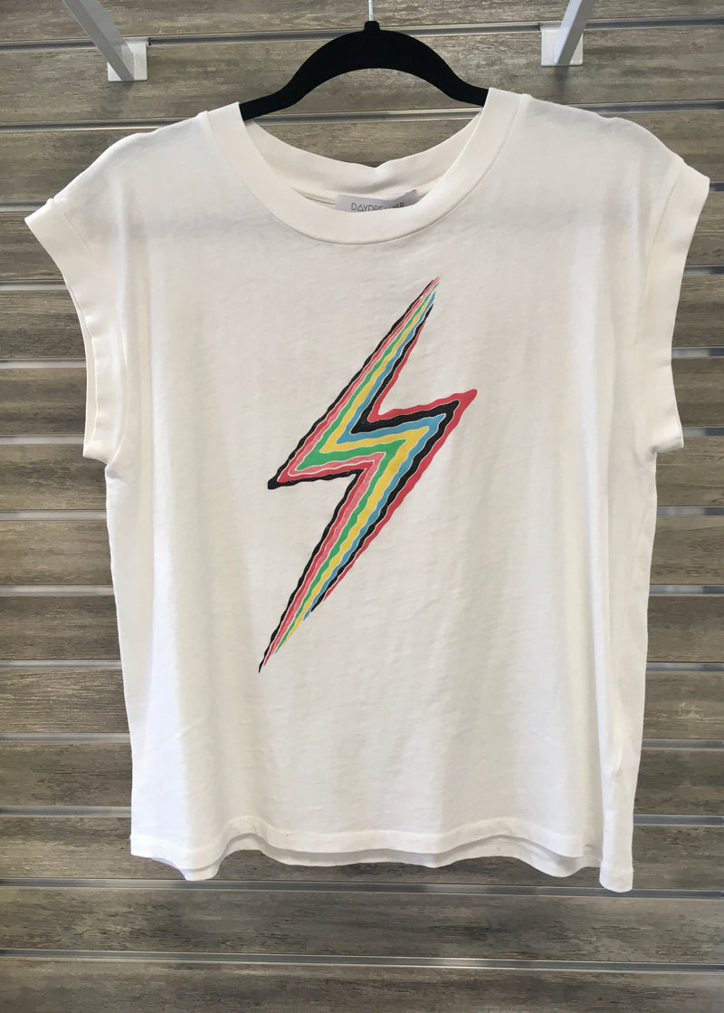 Lightning Bolt Drop Shoulder Tee