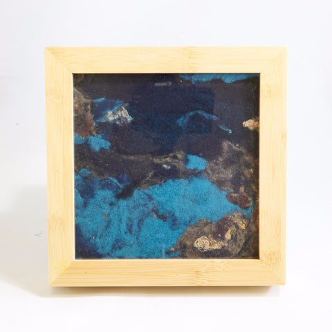 Lint Painting Dark Blue/Teal  by Lonnie Knutson #42-3