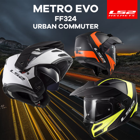 LS2 Motorcycle Helmets 2018 | Metro EVO FF324 Off Road Collection