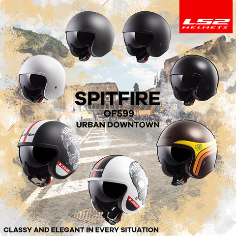 LS2 Motorcycle Helmets 2018 | Spitfire OF599 Cruiser Collection