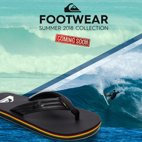 Quiksilver Summer 2018 Footwear | Mens Beach Flip Flops Collection