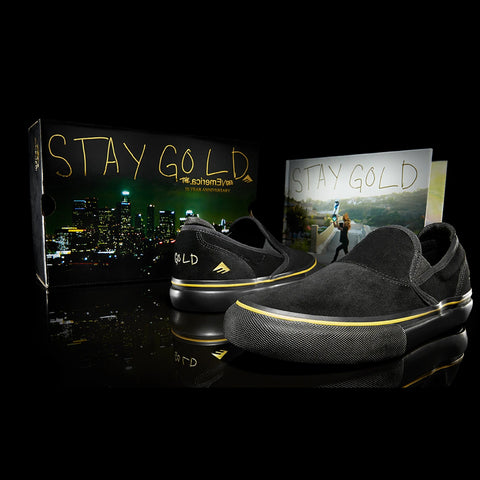 Emerica 2021 Footwear & Apparel 10 Year Anniversary Stay Gold Collection