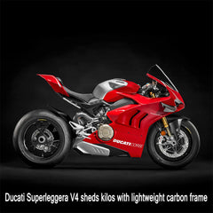 Ducati Superleggera V4 sheds kilos with lightweight carbon frame